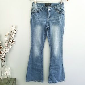 {Cato} Flare Blue Jean Pants Size 4 NWT